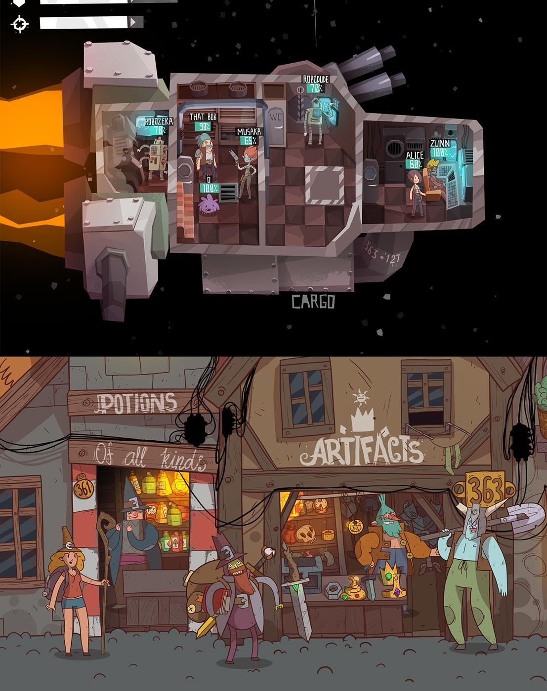 Дизайн уровня и героев для игры