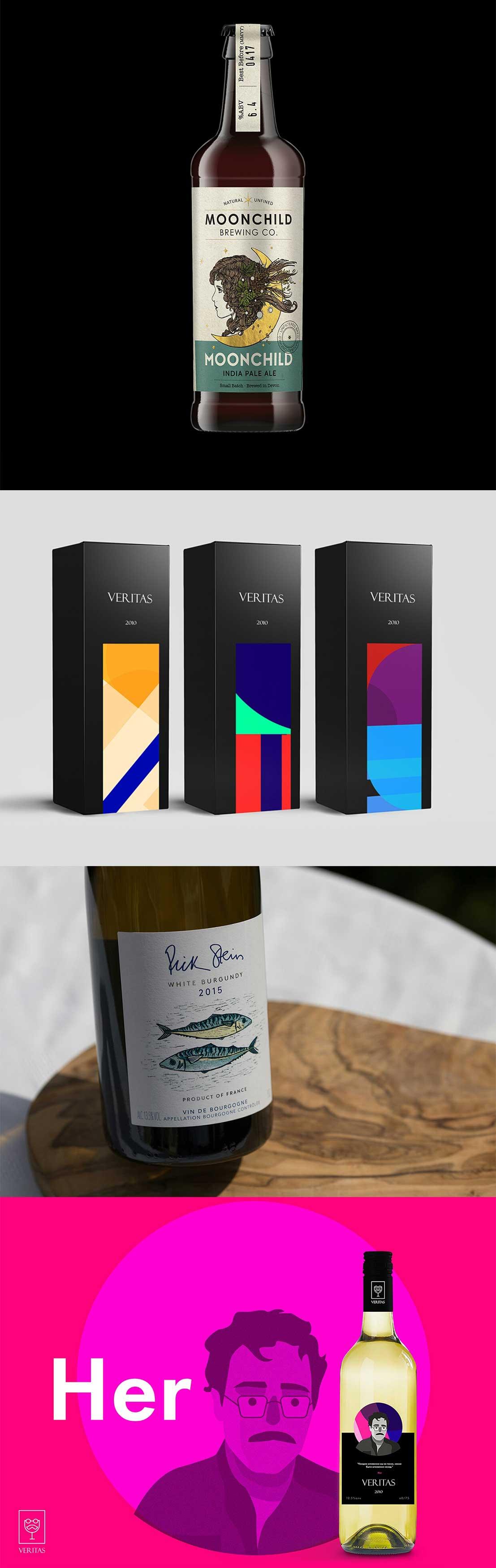 дизайн бутылки вина
