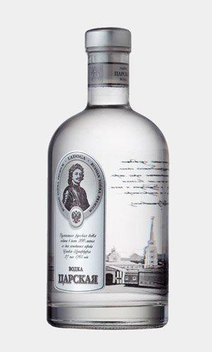 Дизайн бутылки водка Царская