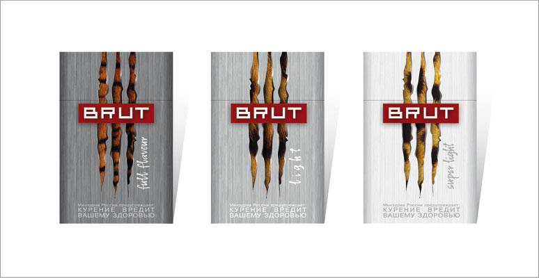 Дизайн упаковки сигарет Brut