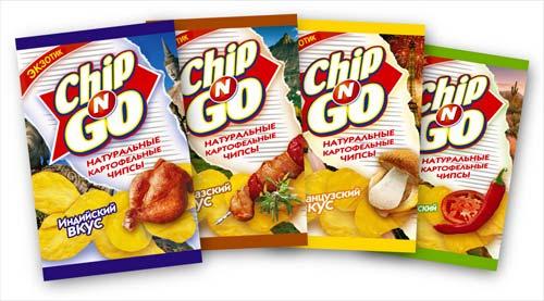 Линейка экзотических упаковок Chip'N'Go