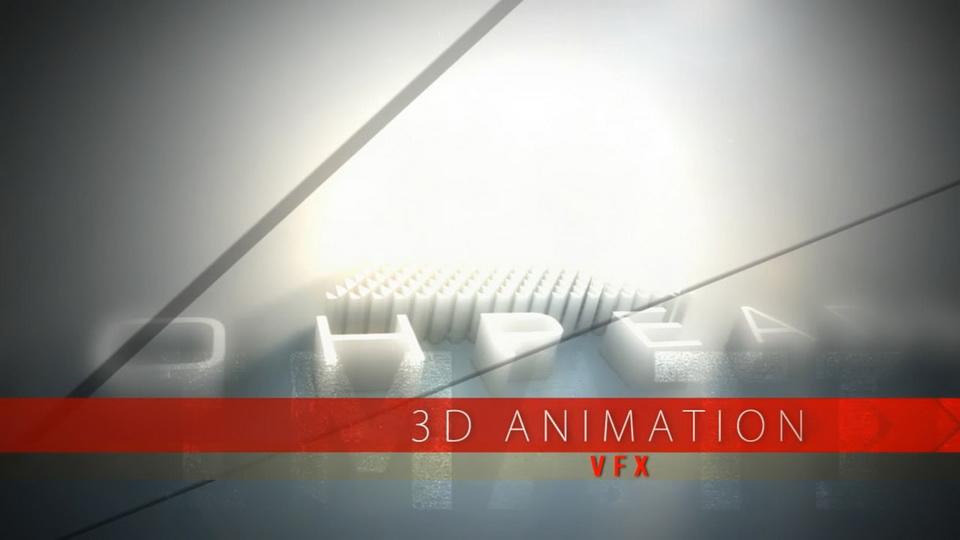 على الشاشة إعلانات الفيديو مع 3D الرسوم المتحركة