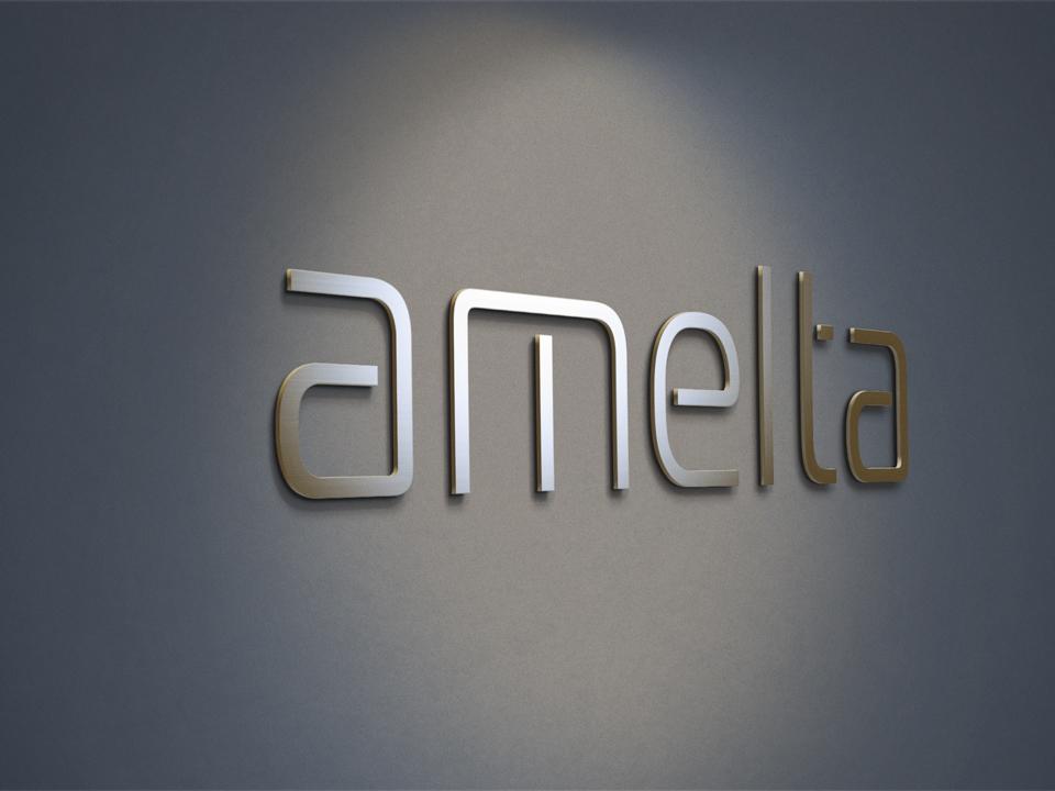 Логотип AMELTA LED освещение