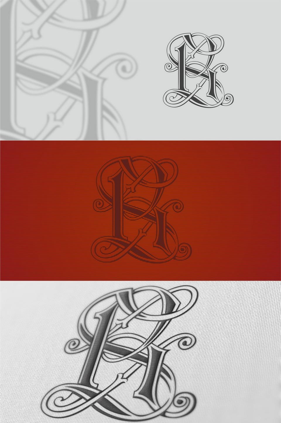 Фамильный герб RS монограмма знак логотип