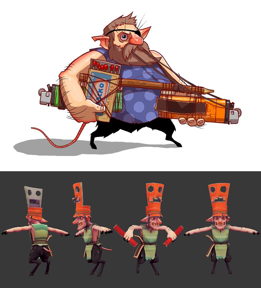 خلق الشخصيات للألعاب