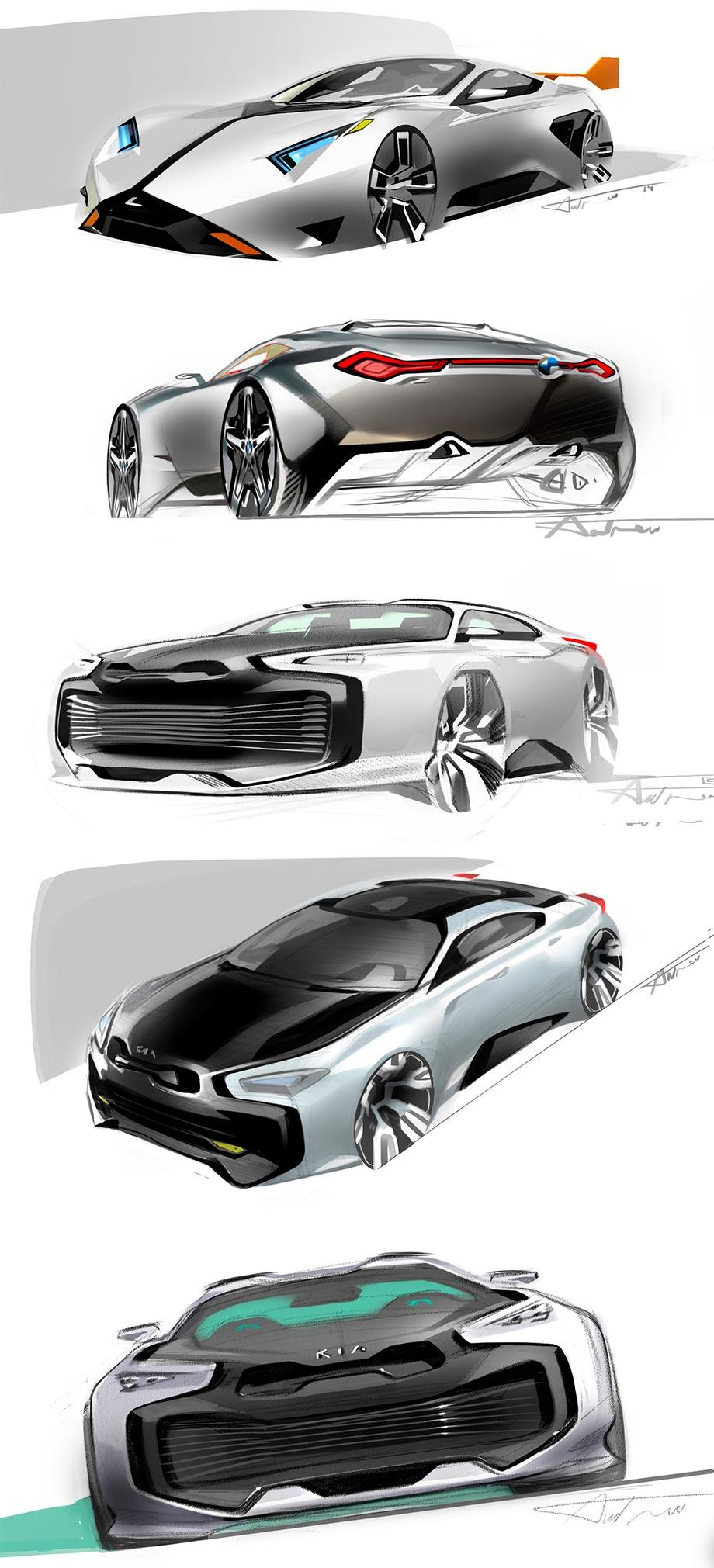 эскиз дизайна авто