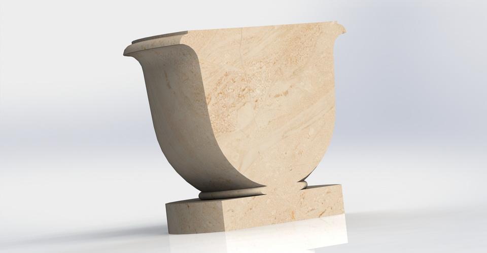 3D модель, вазон, для отливки из гипса, в формате, .х_t, SolidWorks