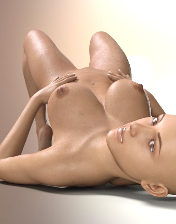 مستلق الموقف مع الثدي