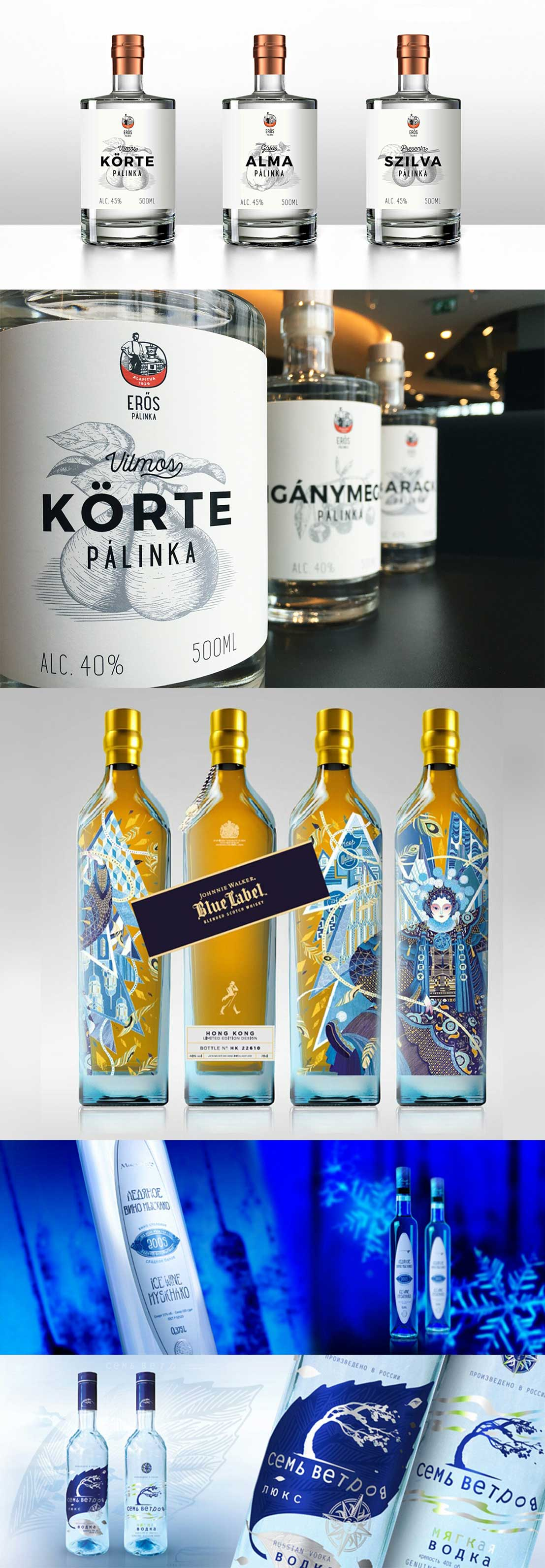 La fabricación de botellas de vodka