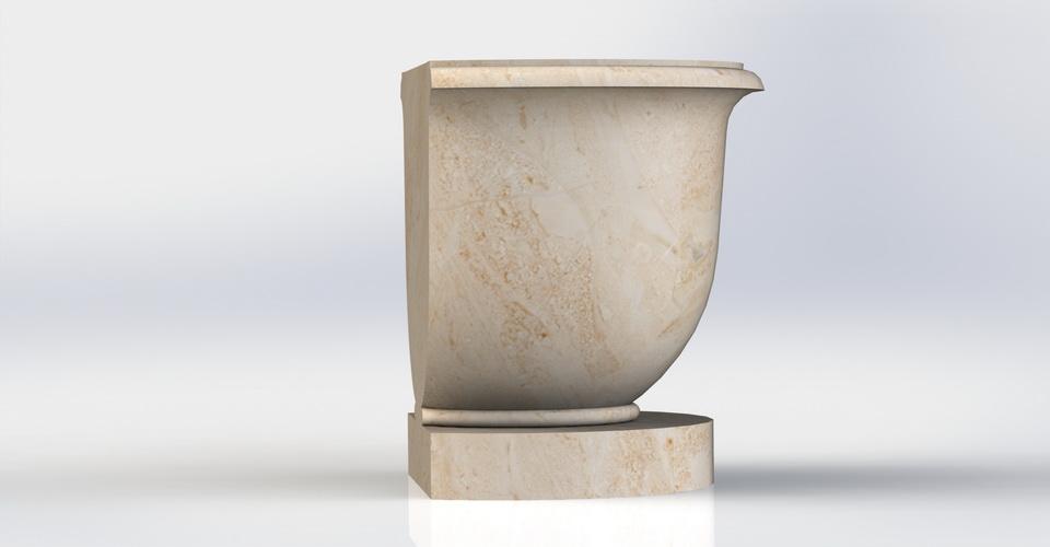 3D модель, вазон, для відливання з гіпсу, у форматі, .х_t, SolidWorks
