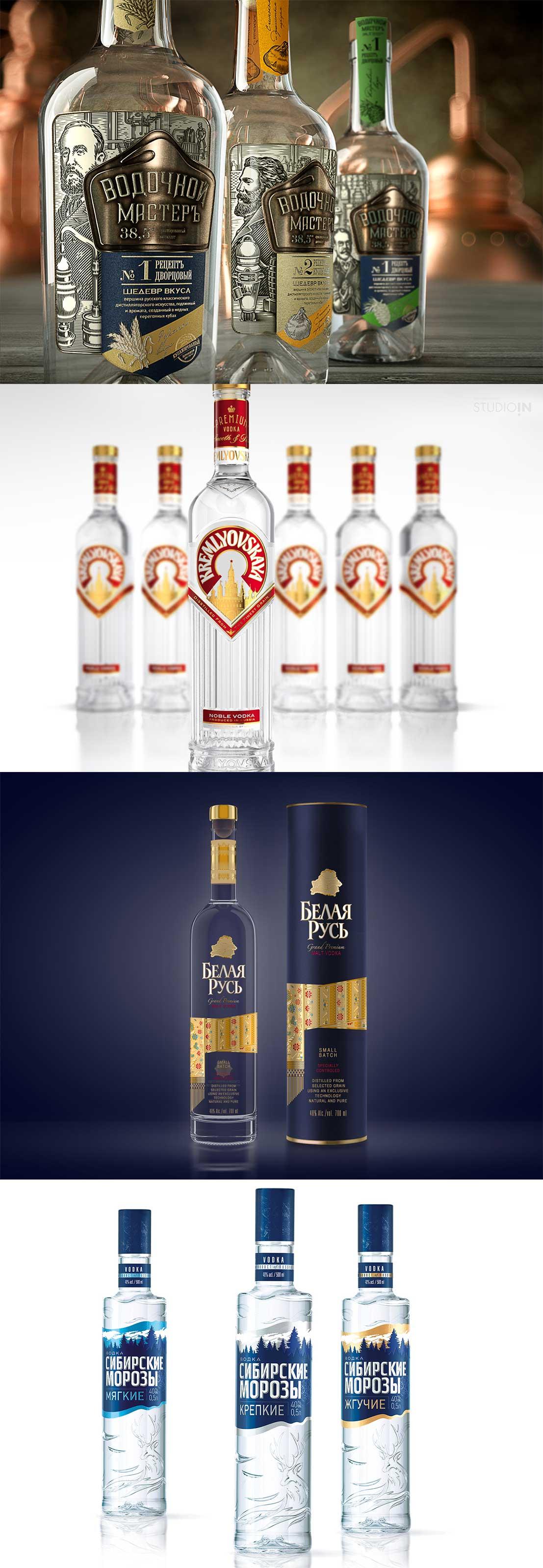 वोदका की बोतल डिजाइन