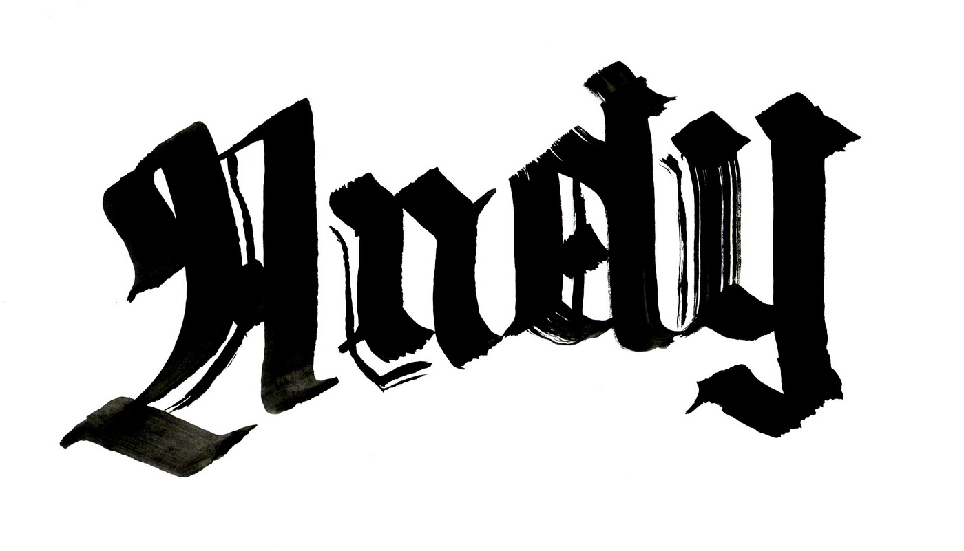 Ескіз рукописного логотипу Andy