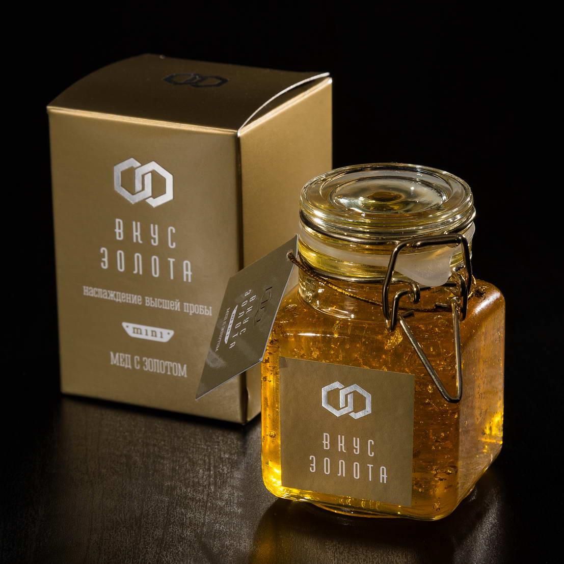 التعبئة والتغليف تصميم العسل طعم الذهب مصغرة