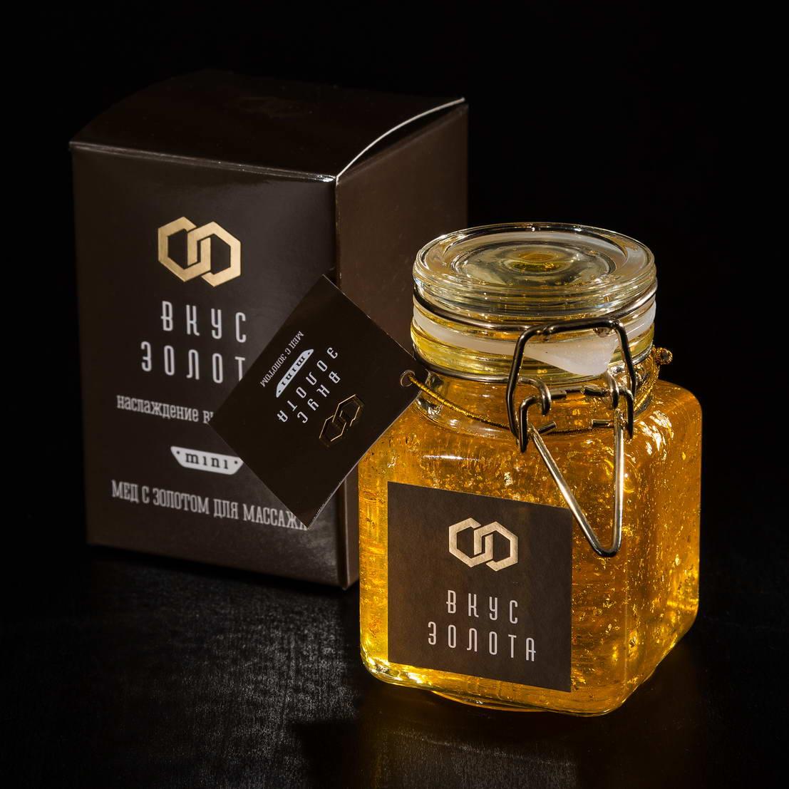 Дизайна упаковки мед Вкус Золота mini