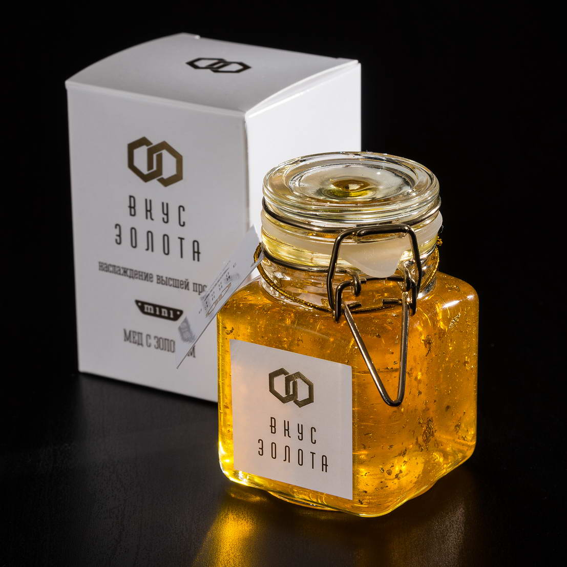 შეფუთვის დიზაინი თაფლი Taste Gold mini
