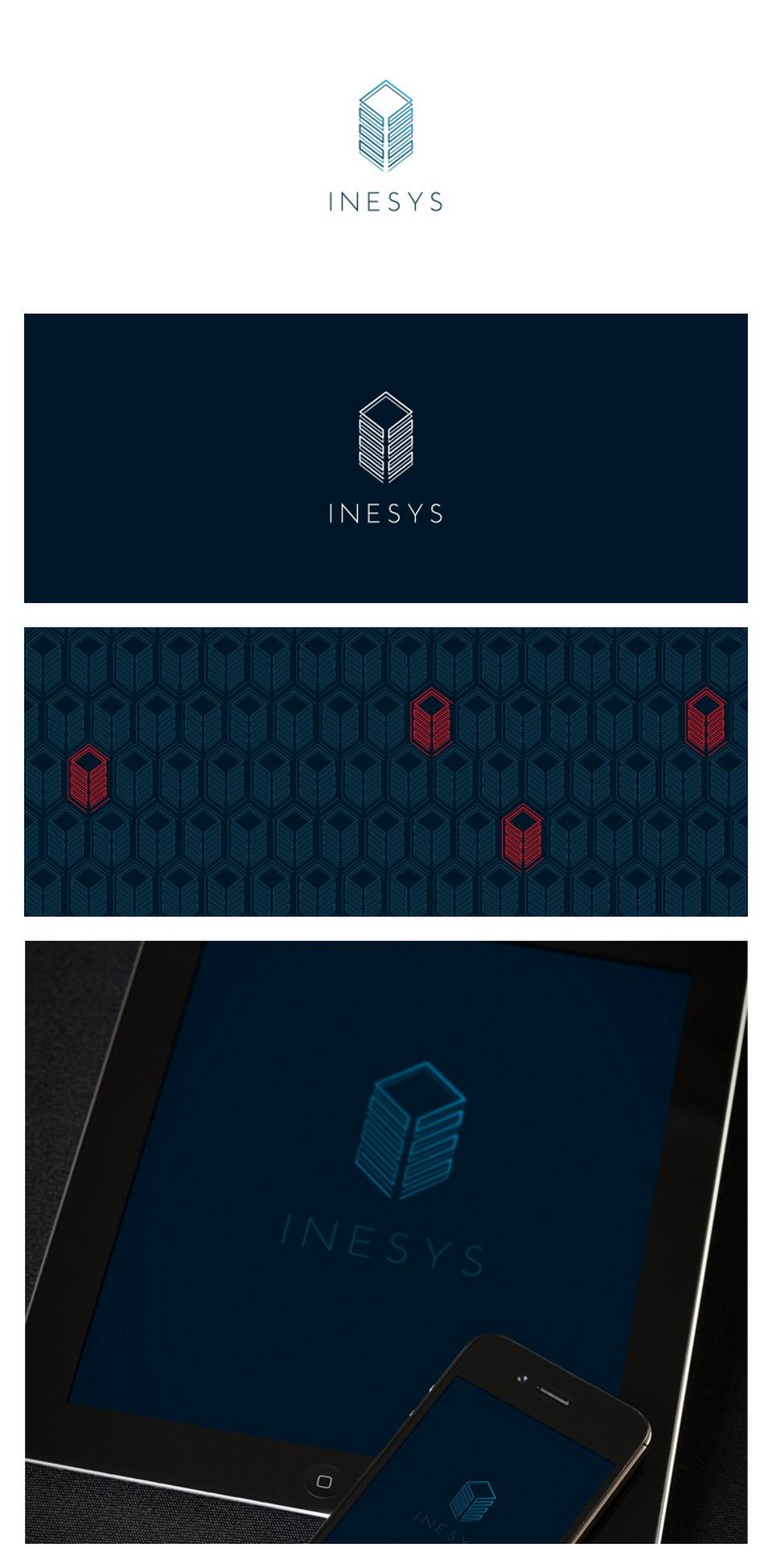Айдентика бренда - логотип фирменный стиль ИНЭСИС INESYS