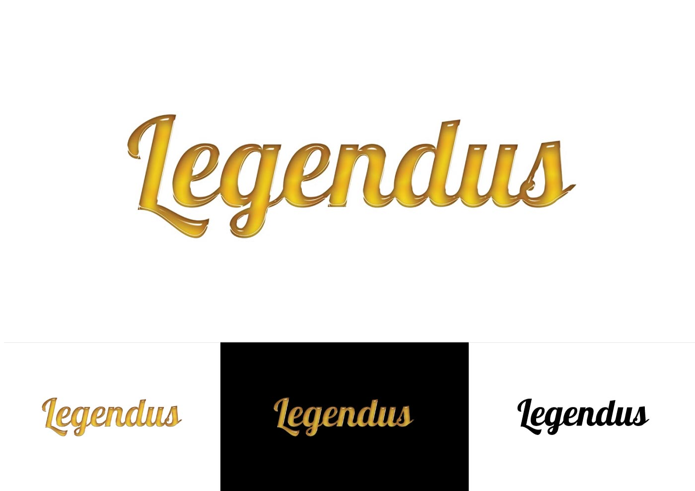 الخط الخط logo LEGENDUS