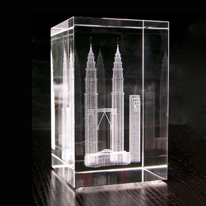 Magic-3D-laser à cristaux-bâtiment-souvenir pour-