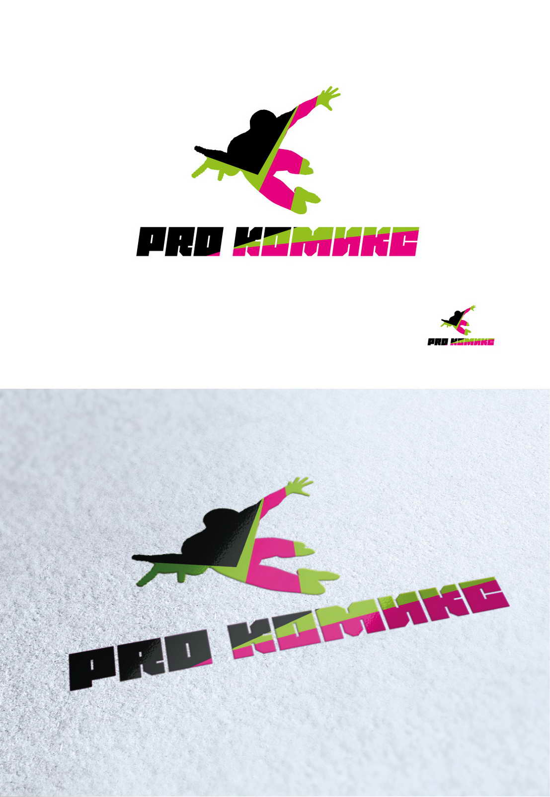 Разработка логотипа для магазина комиксов Pro Комикс