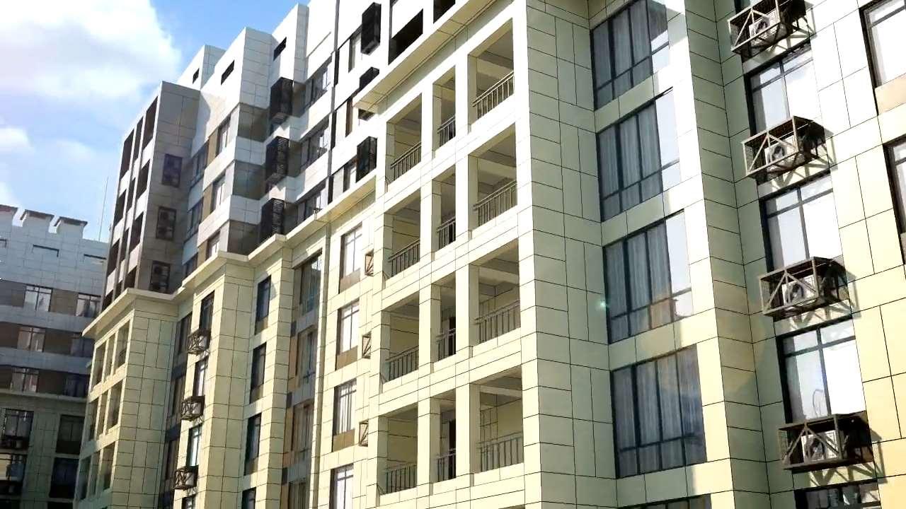 3d модель и анимация жилого комплекса