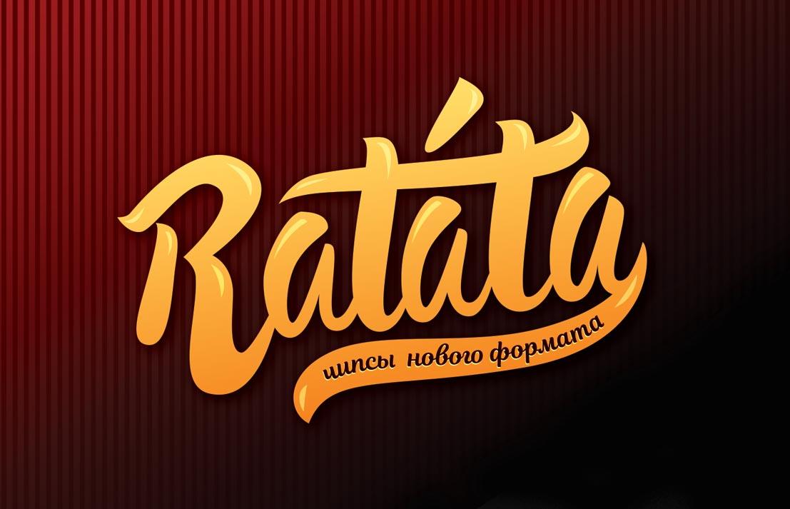 Pagpapaunlad ng pagpapangalan, sawikain at logo para sa mga chips Ratata