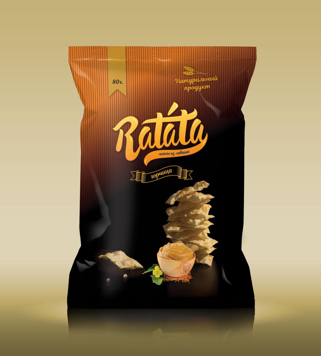 Emballage design til chips Ratatouille sennep