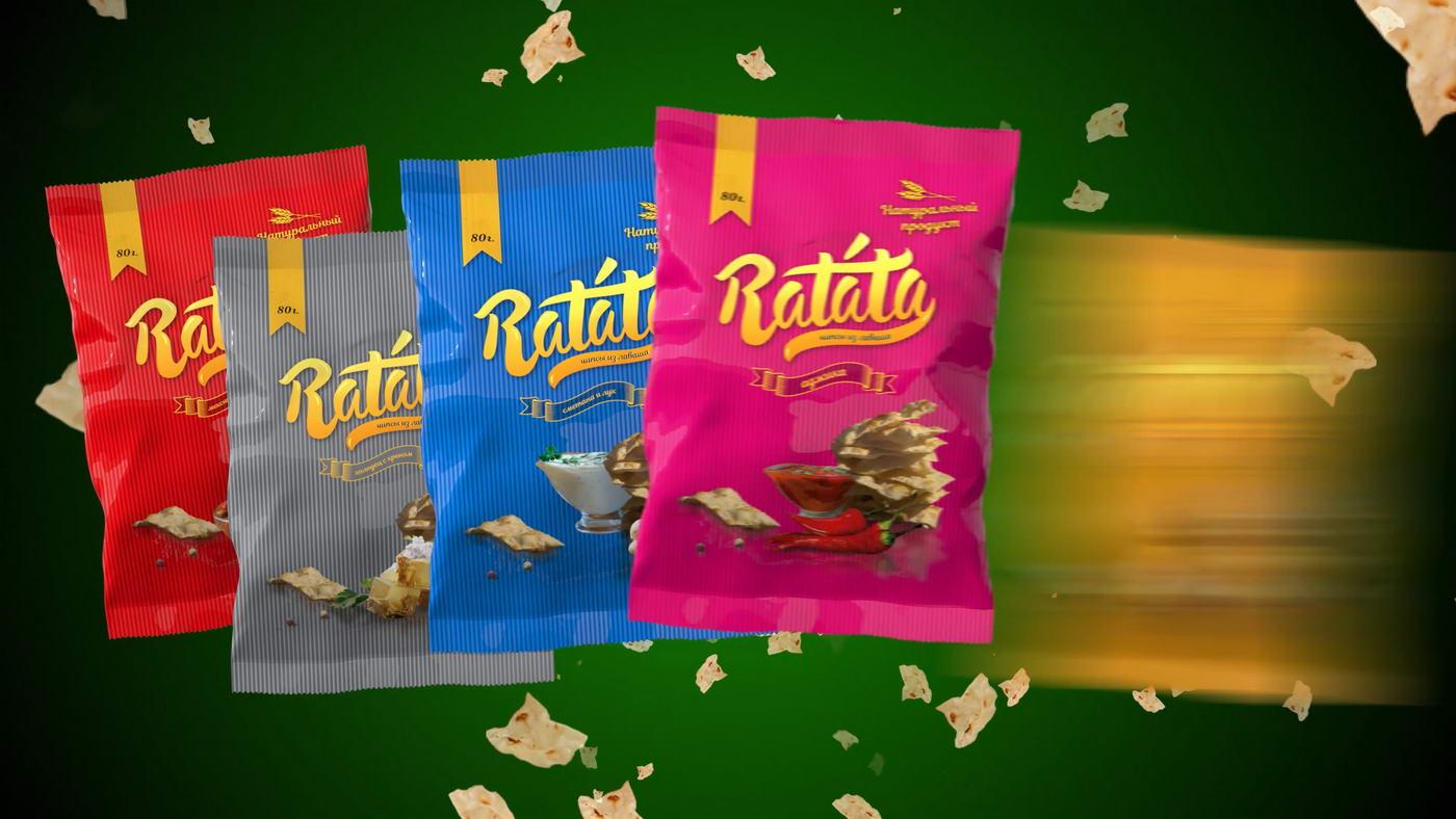 Телевизионный рекламный ролик чипсы Ratata