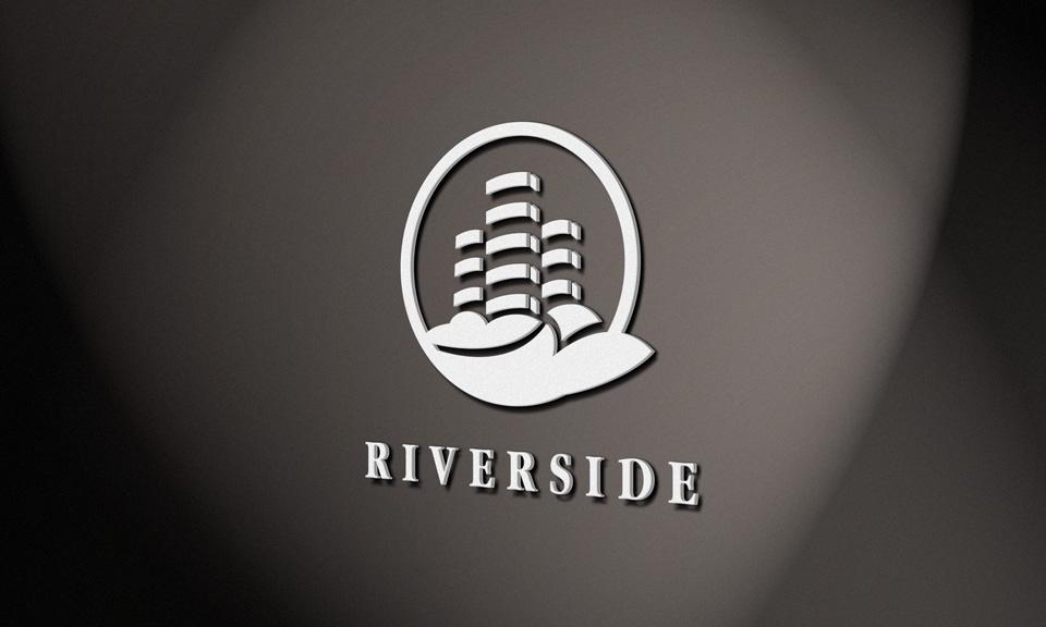 علامة شعار سكنية شركة البناء معقدة