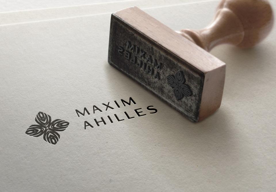 drukāt, korporatīvā identitāte, gleznotājs, Maxim Achilles