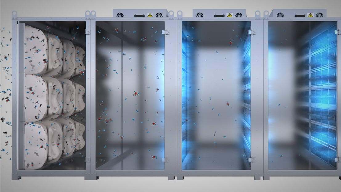 3D анимация AirNOVA тазалауға арналған машиналар