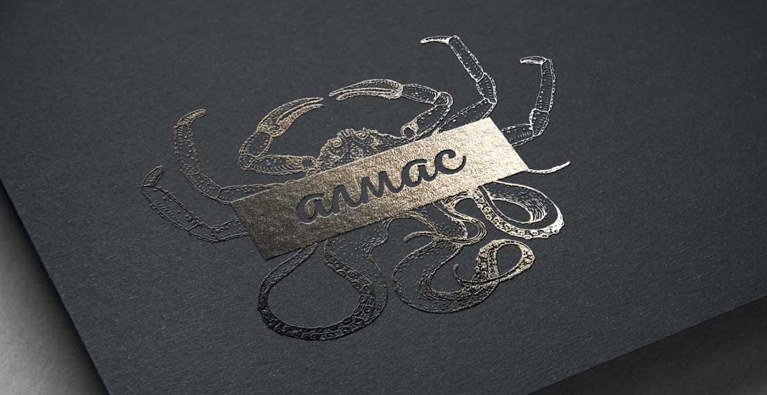 Логотип Алмас морские деликатесы