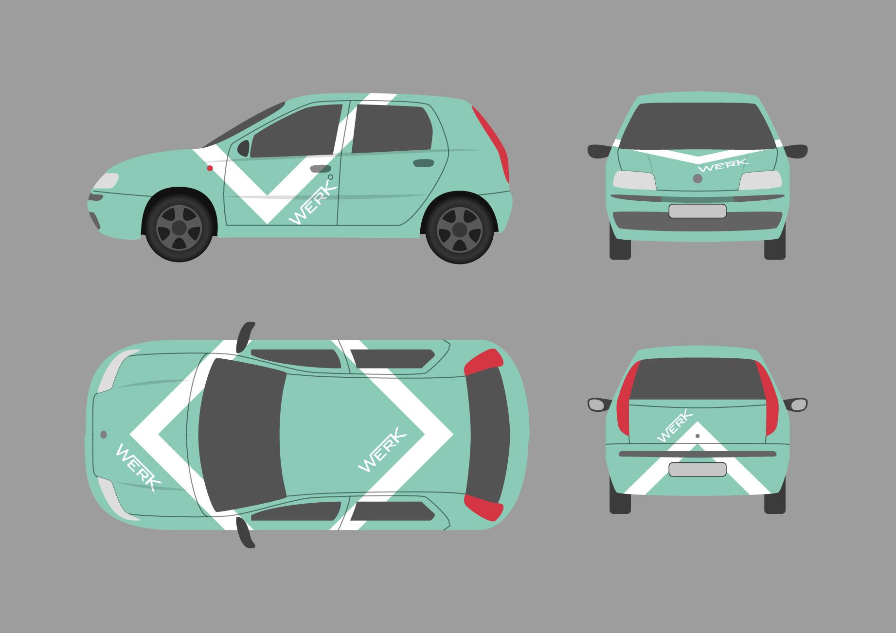 Branding κατασκευής αυτοκινήτων της εταιρείας WERK
