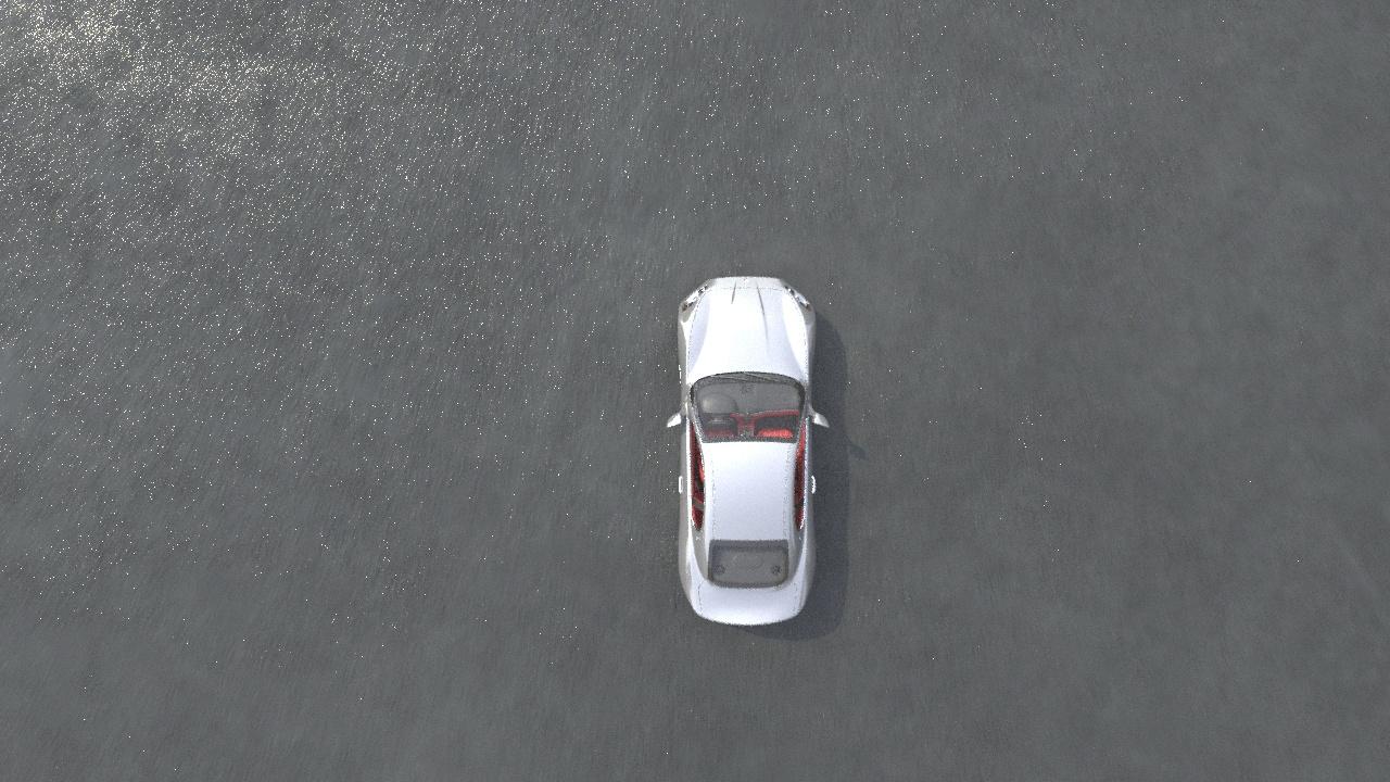 3د سيارة الرسوم المتحركة