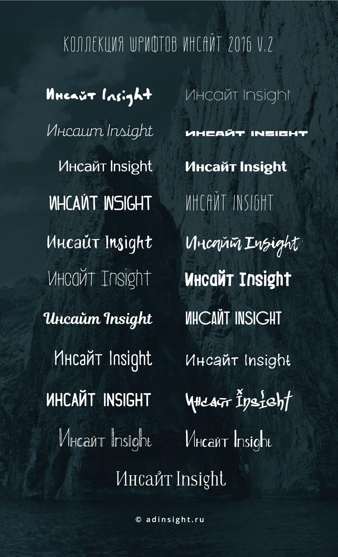 Коллекция шрифтов Инсайт 2016 v.2