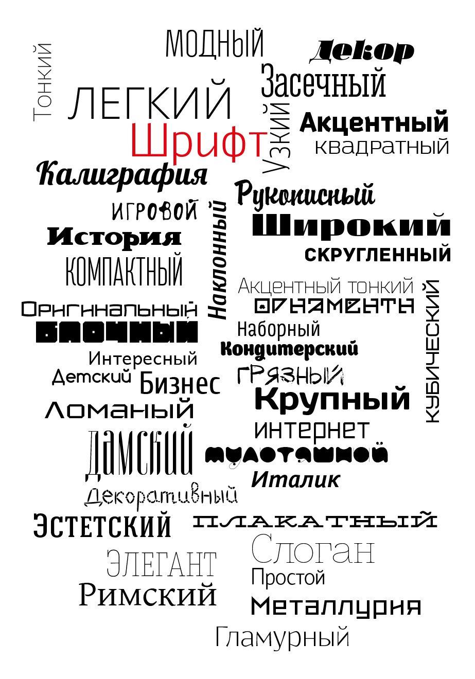 шрифт font коллекция дизайн