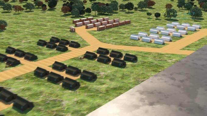 3d модель палаточного лагеря