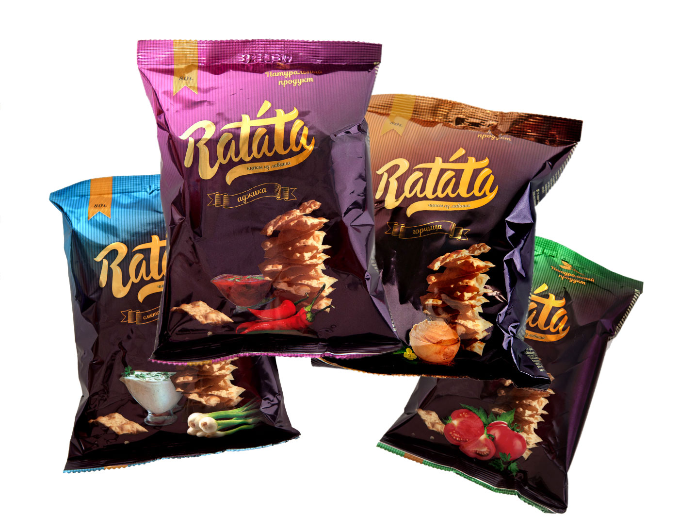 Studio photography ng Ratat 's crisps
