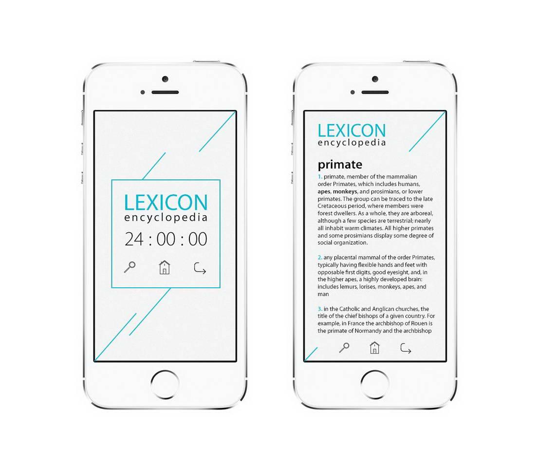 Дизајн апликација интерфејс Лексикон Енциклопедија за странце