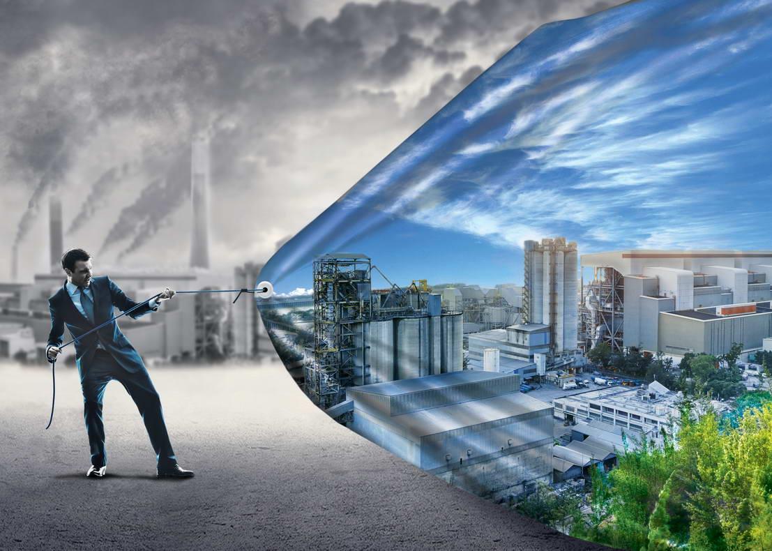 Креативная иллюстрация для буклета AirNOVA очистка воздуха