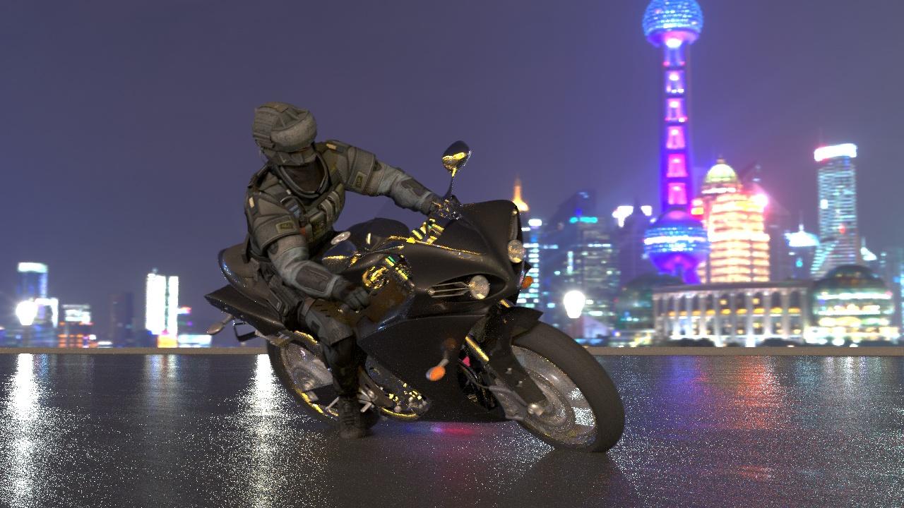 3d Motorcykel animation