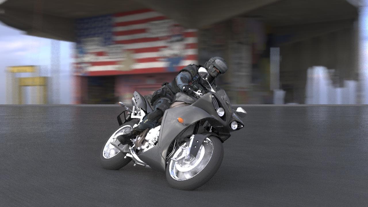 3d анимация спортивного мотоцикла