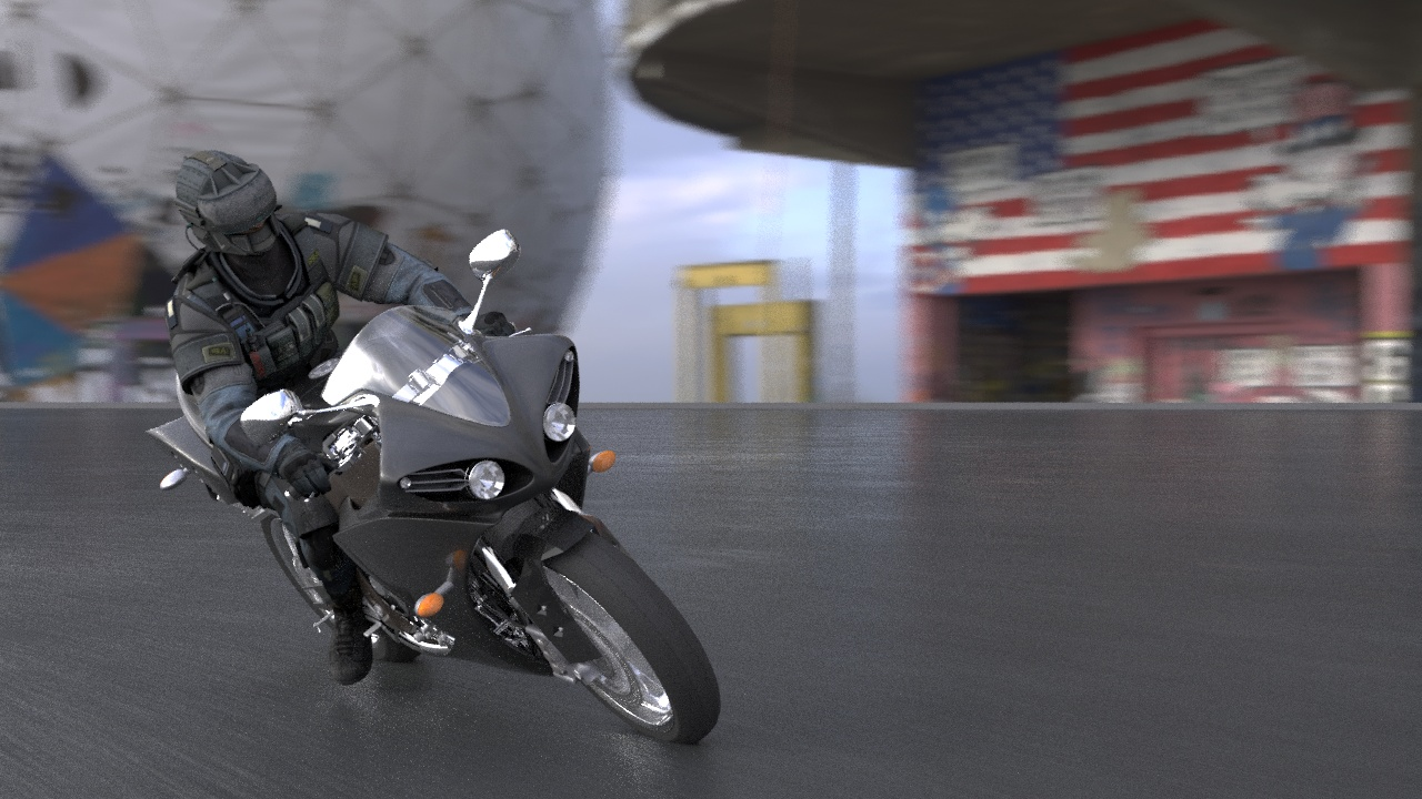 3d animation Motorcycle Racing