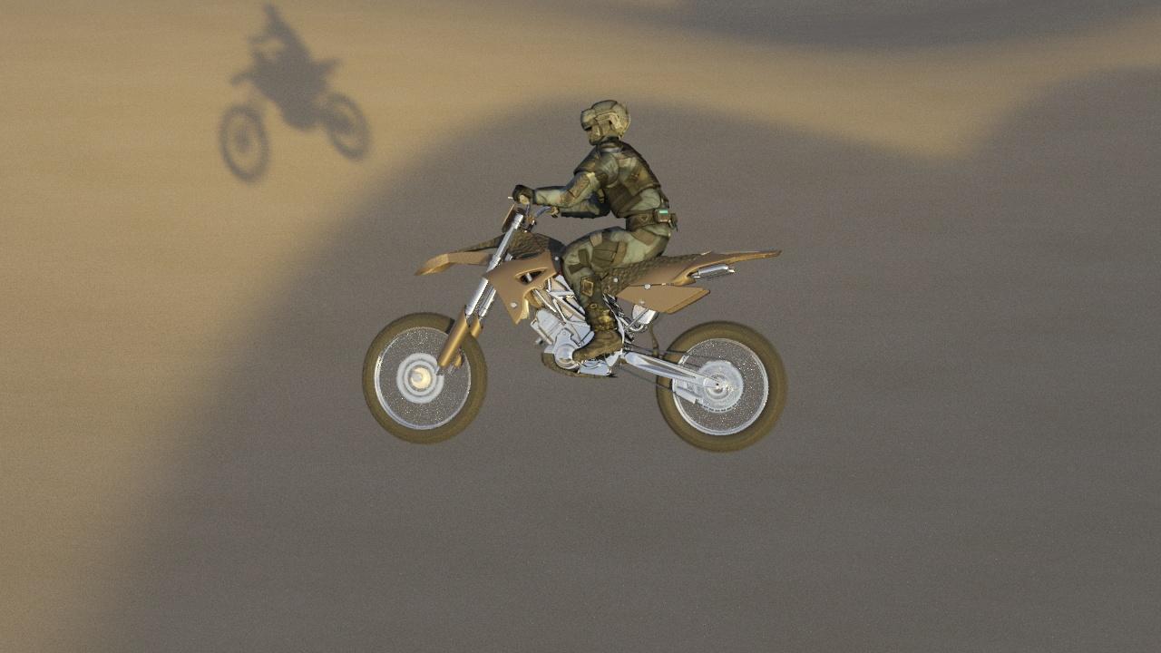 3d анимация мотокросса