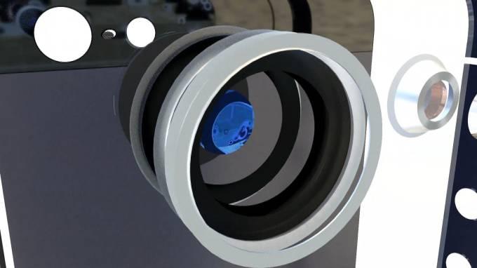 телефон, Rezet, моделирование, 3d, анимация, экран, собирается, азбирается, макро, детали, корпус, взрыв схема