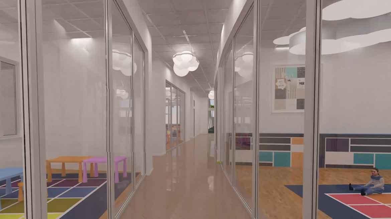 3d модель коридора