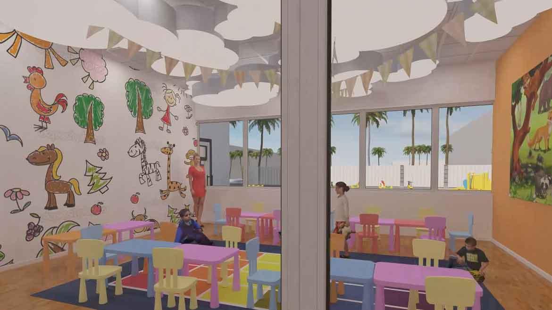 3d модель детской комнаты