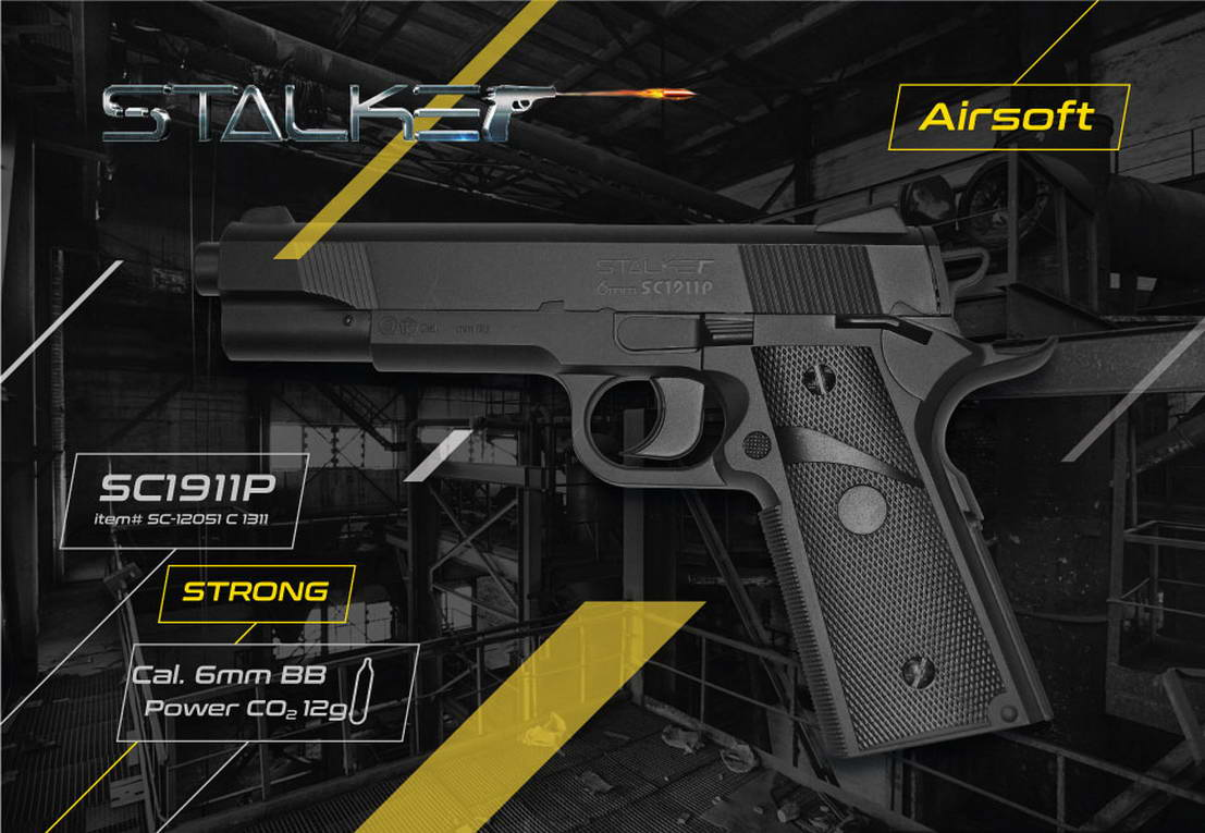 Packaging design air pistols Stalker