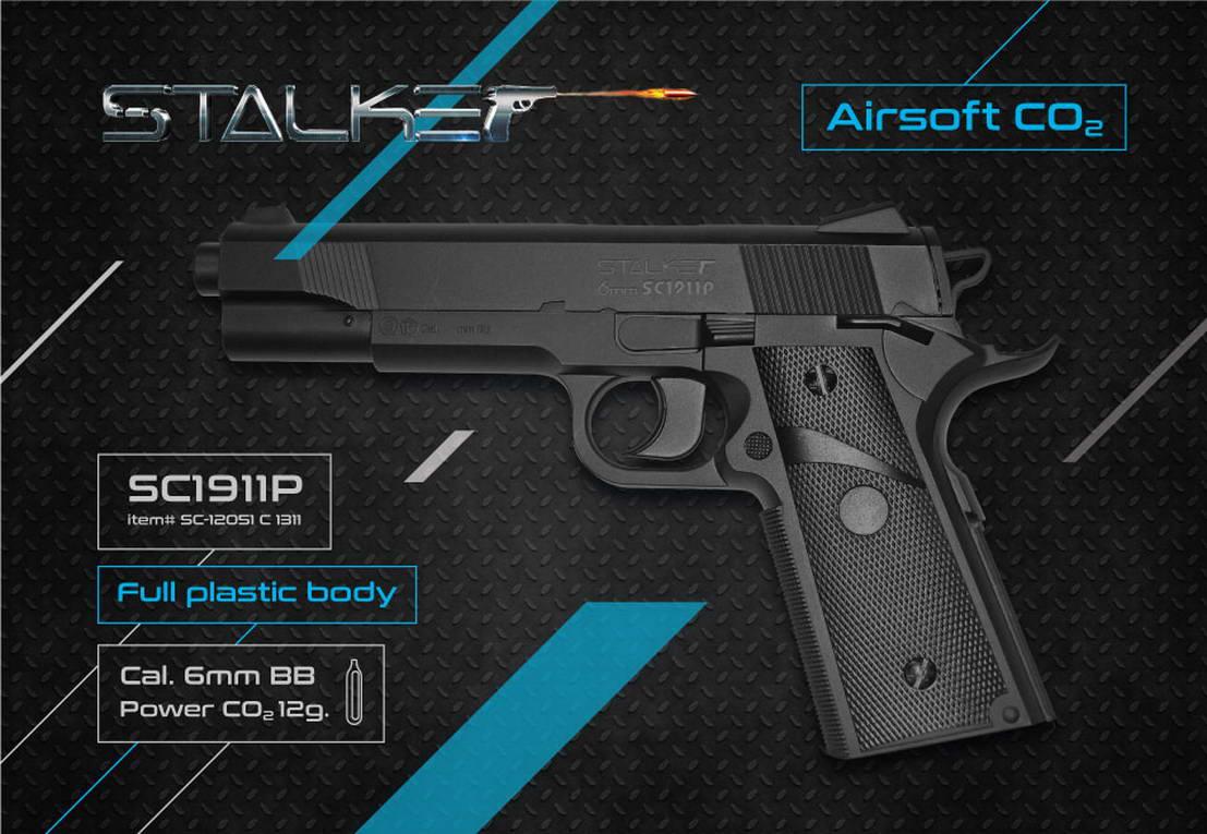 Дизайн упаковки пневматического пистолета Stalker