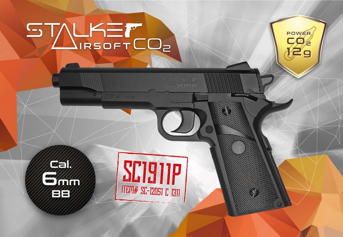 შეფუთვის დიზაინი საჰაერო pistols Stalker