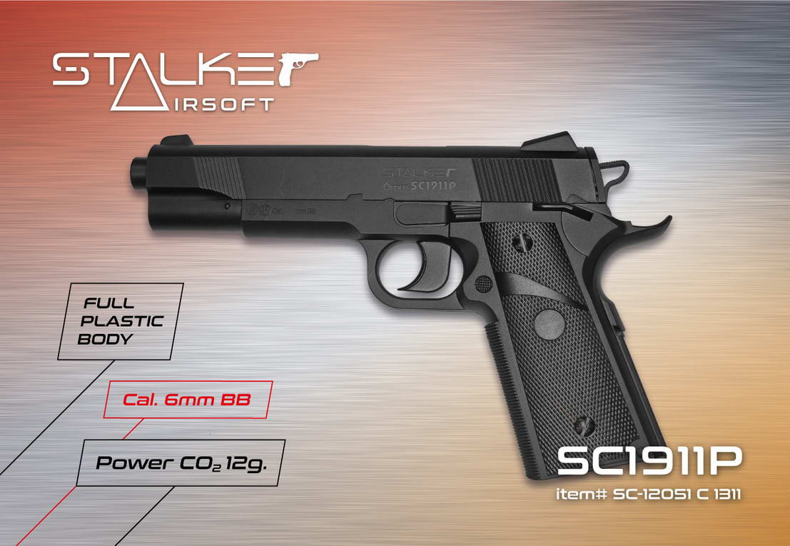 Packaging design air pistols Stalker